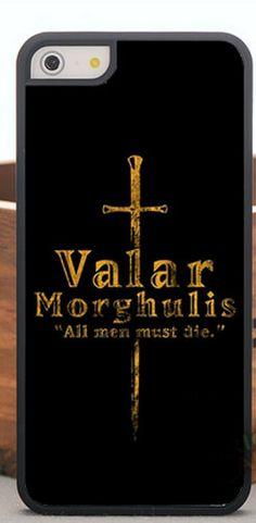 Game Of Thrones  iPhone Case 5S case valar by PAWERCASEBG on Etsy