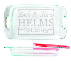 Baking Dish - Box Design personalized with names and date