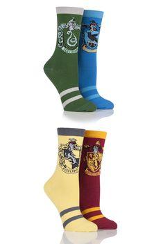 Ladies Harry Potter House Badges Socks