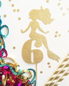 Mermaid Age Cake Topper Customize with any Age by TopperAndTwine