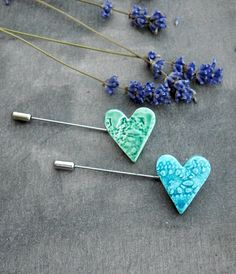 Lace Heart Brooch Pottery Jewelry Ceramic Pin by Ceraminic on Etsy
