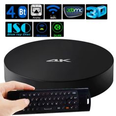 [USD79.44] [EUR72.57] [GBP57.36] Measy B4A Amlogic S802 Quad Core Android 4.4 Smart TV Box 4K Ultra HD Media Player