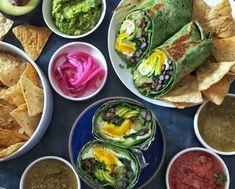 15 Dye-Free Green Recipes for St. Sauteed Spinach, Fresh Asparagus, Over Easy Eggs, Cooking Sweet Potatoes, Organic Eggs, Green Goddess, Pesto Recipe, Breakfast Burritos, Greens Recipe