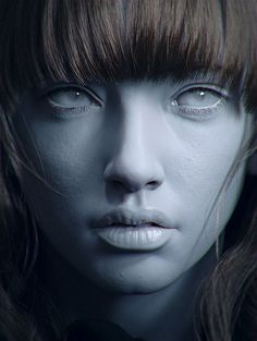 Character Modeling, 3d Character, 3d Face, Face Art, Girl Face, Woman Face, Tattoo Studio, Rendering Art, Face Anatomy