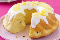 Passionfruit butter cake with glace icing