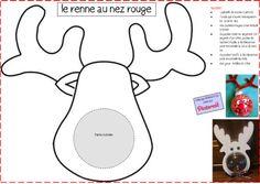 Tete Du Renne Du Pere Noel A Colorier Et A Fabriquer Noel