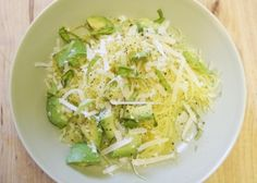 spaghetti squash with avocado and parmesan vegetarian recipe spaghetti ...