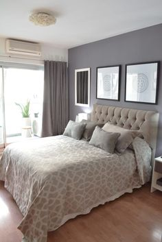 Dormitorio Moderno: Dormitorios de estilo moderno por Nicolas Pierry: Diseño y Decoración de Interiores Master Bedroom Design, Home Bedroom, Bedroom Decor, Warm Bedroom, Bedroom Storage, Bedroom Curtains, Bedroom Ideas, Bedroom Girls, Pretty Bedroom