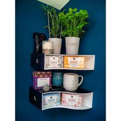 Knuff magazine collector into tea and herb shelves . Weed the collection, get a corner shelf.- IKEA Hackers