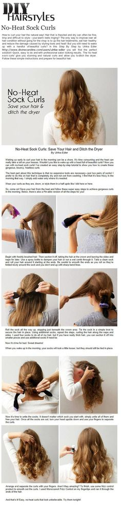 DIY Hairstyles No-Heat Sock Curls
