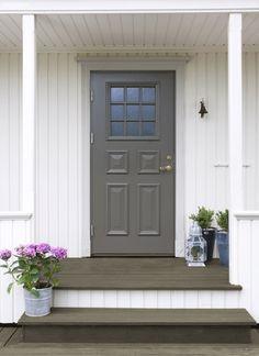 Biointensive Gardening, Black Garage Doors, Garage Door Design, Cottage Exterior, Permaculture, Curb Appeal, Wood, Outdoor Decor, Inspiration