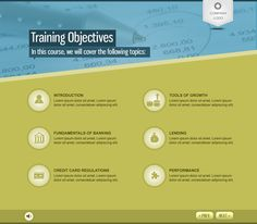 eLearning Template - Financial Industry by Magic Johnson, via Behance