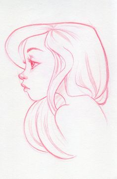 Blue (Sketch) by dennia.deviantart.com   -- The Disney inspiration in this work is obvious but welcomed. There is some budding talent here.