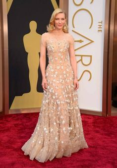 86th Academy Awards: Oscars 2014 red carpet gallery - Vogue Australia Cate Blanchett wears Armani Privé and Chopard jewellery.