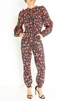 DELPHINE JUMPSUIT Ulla Johnson, Drawstring Waist, Jumpsuit, Swimwear, Model, How To Wear, Cotton, Collection, Dresses