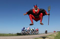 A GERMAN FAN ON STAGE TWELVE OF THE 2009 TOUR DE FRANCE-- Cycling
