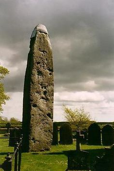 The Rudston Monolith, Yorkshire is the highest standing stone in England