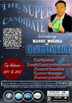 CV Poster Super Candidate with creativity