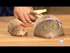Folded book art is a new form of artistic expression which transforms unwanted books into beautiful decorative objects. Folded Book Art, Paper Book, Book Crafts, Arts And Crafts, Paper Crafts, Hedgehog Book, Book Folding Patterns, Book Projects, Diy Projects
