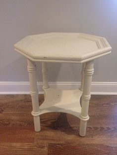 REDUCED Faux Bamboo Octagon End table, Palm Beach, Regency, Mid Century, DYI Project