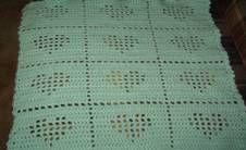 Tiny Hearts Blanket free crochet pattern