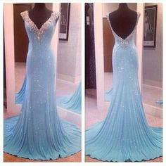 Pd06125 Charming Prom Dress,Beading Prom Dress,Mermaid Prom Dress,V-Neck Prom Dress,Sexy Backless Prom Dress