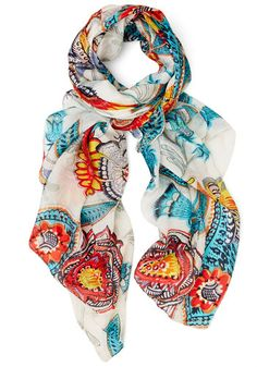Finding the Fun Scarf. When you wake up feeling extra cheery, wrap this 100% silk scarf around your neck and give your bestie a call. #multiNaN