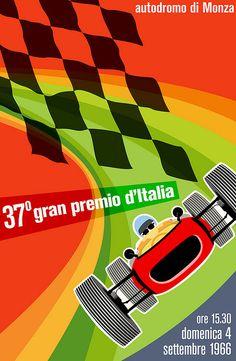 Vintage Italian Posters ~ #Italian #vintage #posters ~ Grand Prix poster