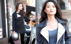 GoGo trench - stylish motorcycle garb for women - you DONT need to look like a MAN or a biker chick.