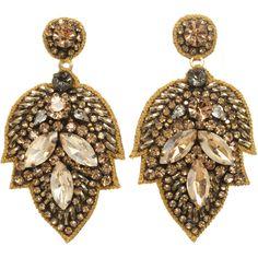 Deepa gurnani - crystal leaf earrings ($130) ❤ liked on Polyvore featuring jewelry, earrings, leaf jewelry, crystal stone jewelry, crystal earrings, crystal jewelry and leaves jewelry