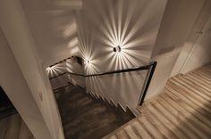 I like the drama that the light fixture creates on a relatively simple wall.  Креативный офис e-spres-oh - плод студии Ezzo Design