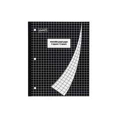 """Staples 4-Square/5-Square Graph Notebook, 8 1/2"""" x 11"""" ($3.29) ❤ liked on Polyvore featuring home, home decor, stationery and school supplies"""