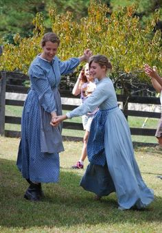 This photo was first posted as Amish girls having fun outdoors dancing ~ (Thanks to a pinner, a  correction of this photo has been noted in the comments)