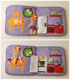 Casa de muñecas libro tranquila / 10 páginas / por WeriBeauties