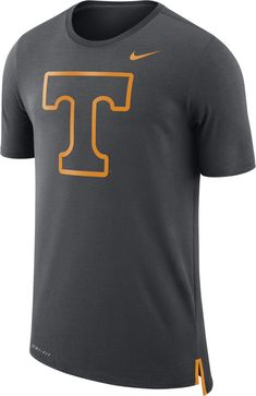 Nike Men s Tennessee Volunteers Anthracite Travel Meshback Dri-FIT Football  T-Shirt b68e5f216