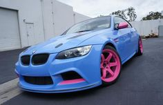 Pink And Blue BMW M3 -- not so sure about this....