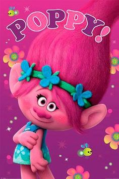 Póster Poppy. Trolls, 61 x 91,5 cm Póster perteneciente a la película de animación Trolls.