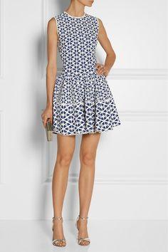 summer dress // Alexander McQueen|Jacquard-knit mini dress|NET-A-PORTER.COM