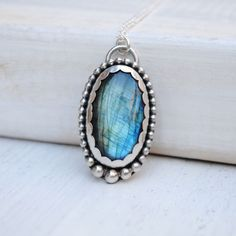 Sterling Silver Labradorite Necklace - Labradorite Jewelry by SongYeeDesigns on Etsy https://www.etsy.com/listing/253252381/sterling-silver-labradorite-necklace