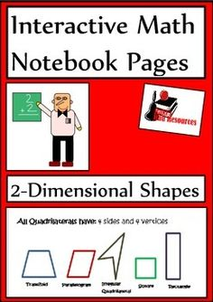 Add this interactive notebook reference page and reflection activity to your math notebooks this year. Just $1.25 and covers two dimensional shapes.