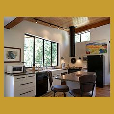 Moon Dance Perch is a custom built modern cabin accommodation offering privacy, full amenities, and fully accessible for the handicapped. Queen Size Sofa Bed, Open Concept, Moon Dance, Floor Plans, Cottage, Flooring, Modern Homes, Dining, Vacation Rentals