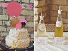EAT DRINK PRETTY: Real party: a pretty pink and gold confetti-themed baby shower