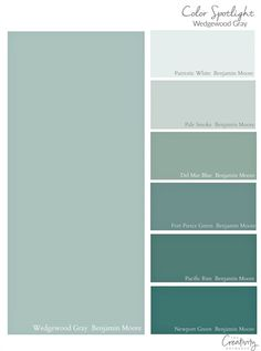 Benjamin Moore Wedgewood Gray Color Spotlight