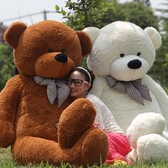 I Want The PINK one!  Lovers plus size teddy bear  6.56 Feet (200cm)  Giant TEDDY BEAR birthday gift big teddy bear retail and wholesale $50.00