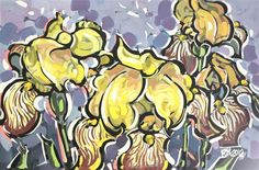 """Yellow Iris 3"" by Roger Akesson"