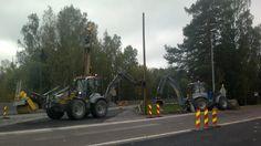 Antti & Eero Järvinen & Lännen 8600G Premium  #Lannen #Lännen #backhoe #machine #municipal_works #infra #electrical #networks