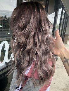 Dark Blonde Hair Color, Ash Blonde Hair, Hair Color And Cut, Hair Color Balayage, Hair Highlights, Purple Hair, Hair Colour, Mushroom Hair, Aesthetic Hair