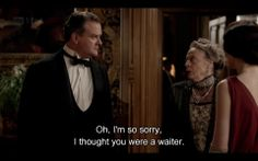 """""""Just one of the many reasons why I love Maggie Smith in Downton Abbey :) """"- Imgur"""