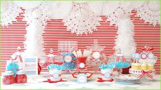 Blue/Red Christmas Candy Bar