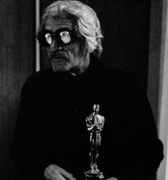 "Luis Bunuel and his Oscar for ""The Discreet Charm of the Bourgeoisie""(1972)"